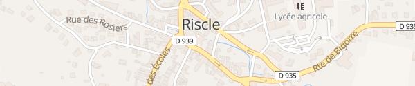 Karte Rue des Pyrénées Riscle