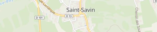 Karte Le Viscos Saint-Savin