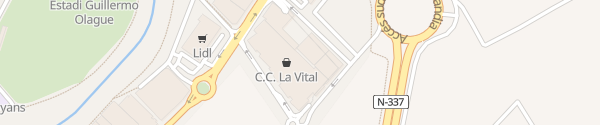 Karte Centro Comercial La Vital Gandia