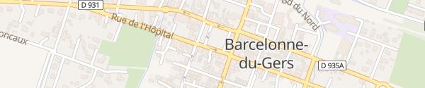 Karte Place de la Garlande Barcelonne-du-Gers