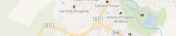 Karte Les Prés d'Eugénie Michel Guérard Eugénie-les-Bains