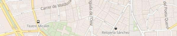Karte Parking Avenida des Oeste Valencia