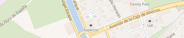 Karte Supercor Einkaufszentrum Alicante