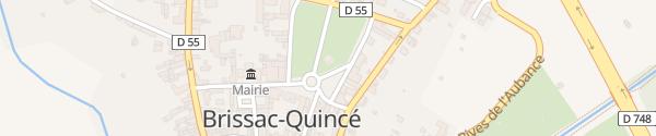 Karte Place du Général de Gaulle Brissac-Quincé