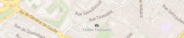 Karte Rue Toussaint Angers