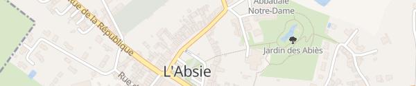 Karte Place du 14 Juillet 1836 L'Absie