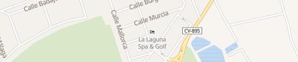 Karte Hotel La Laguna Spa & Golf Ciudad Quesada