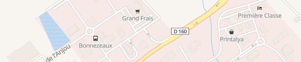 Karte Rue de l'Aubance Cholet