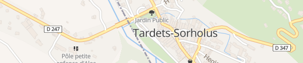Karte Place Centrale Tardets-Sorholus