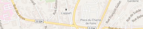 Karte Parking Rue Emile Zimmermann Vire