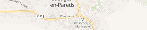 Karte Rue Georges Clemenceau Bazoges-en-Pareds