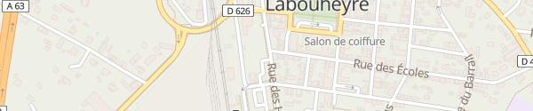 Karte Parking de la Gare Labouheyre