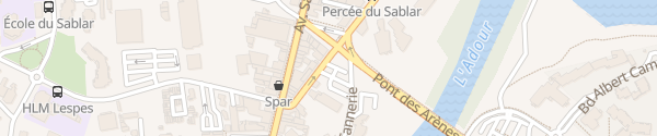Karte Parking Georges Chaulet Dax
