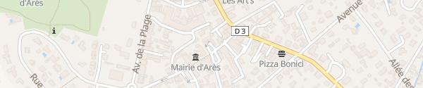 Karte Mairie Arès