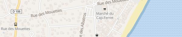 Karte Avenue du Monument Saliens Lège-Cap-Ferret