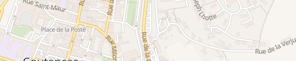 Karte Place de la Croûte Coutances