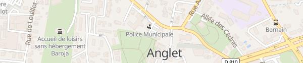 Karte Centre of Public Finance Anglet