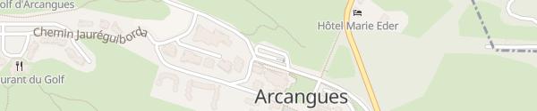 Karte Parking Chemin du Bosquet Arcangues
