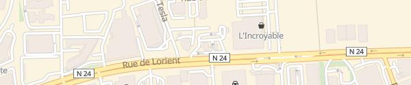 Karte Relais Barre Thomas Rennes