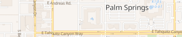 Karte Hilton Palm Springs - Noodoe EV Palm Springs