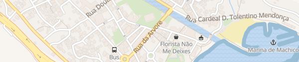 Karte Rua da Estacada Machico