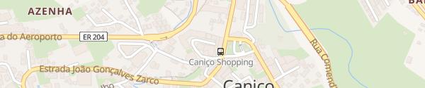 Karte Parkhaus Einkaufszentrum Caniço