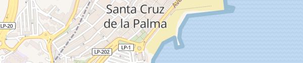 Karte Cabildo Santa Cruz de la Palma