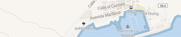 Karte Avenida Marítima La Restinga