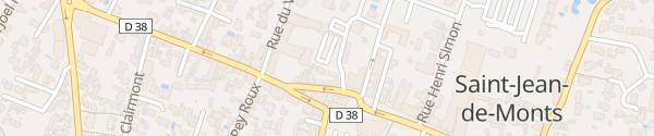 Karte Rue du Général de Gaulle Saint-Jean-de-Monts