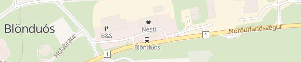 Karte N1 Tankstelle Blönduós