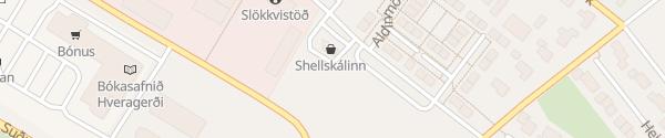 Karte Fortum Schnellladesäule Hveragerði