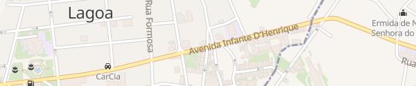 Karte Rua Agente Técnico João Mota Amaral Lagoa