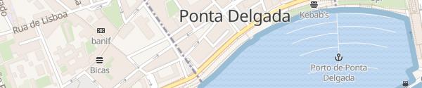 Karte Travessa de Santa Luzia Ponta Delgada