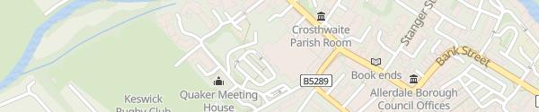 Karte Booths Keswick