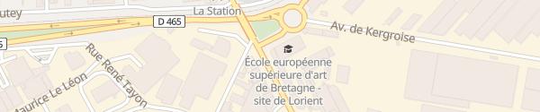 Karte Avenue de la Perrière Lorient