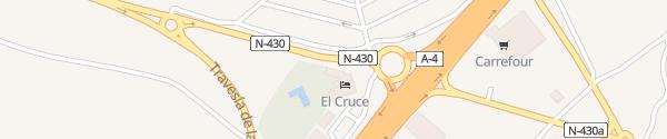 Karte Hotel El Cruce Manzanares