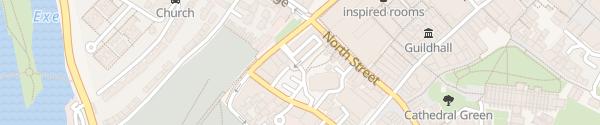 Karte Mary Arches Street Car Park Exeter