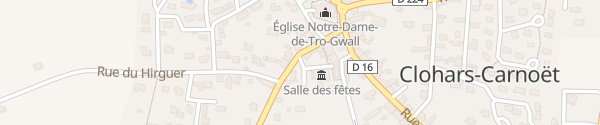 Karte Mairie Clohars-Carnoët