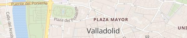 Karte Calle de los Molinos Valladolid
