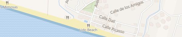 Karte Beach Club Estrella del Mar Marbella