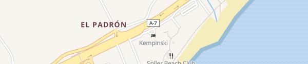 Karte Hotel Kempinski Bahía Estepona