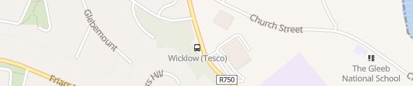 Karte Tesco Superstore Wicklow Town