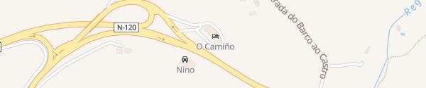 Karte Hotel O Camiño O Barco