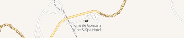 Karte Torre de Gomariz Cervães