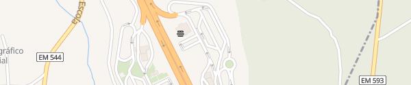 Karte Área de Serviço de Leiria Arrabal
