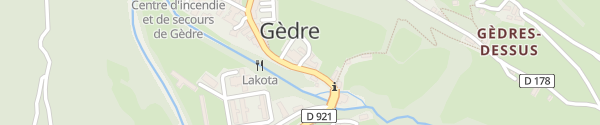 Karte Hôtel Restaurant La Brèche de Roland Gèdre