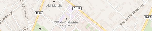 Karte Boulevard de Strasbourg Alençon