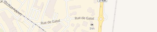 Karte Rue de Gatel Valframbert