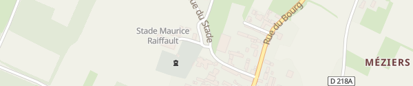 Karte Rue du Stade Savigny-en-Véron