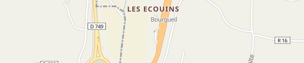 Karte SIEIL A85 Ausfahrt Bourgueil La Chapelle-sur-Loire
